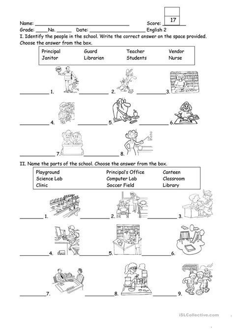 People And Part Of The School Worksheet  Free Esl Printable Worksheets Made By Teachers