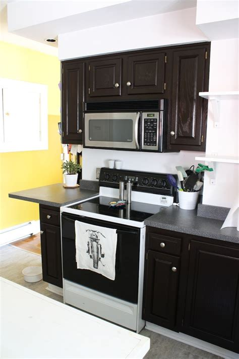 how to stain oak cabinets how to refinish oak cabinets with stain the big reveal