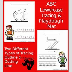 New Free Abc Lowercase Tracing Pages With Playdough Mats 2 Types Of Tracing Outline And Dotted