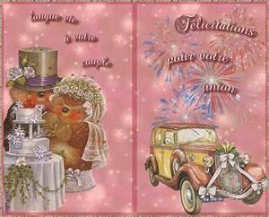 Carte De Voeux à Imprimer Gratuite : mariage felicitations cartes gratuites ~ Nature-et-papiers.com Idées de Décoration