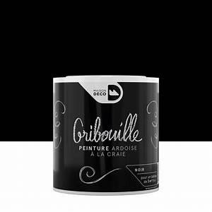 peinture tableau craie noir maison deco gribouille 05 l With peinture noir paillete pour mur