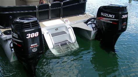 ny nc popular twin engine pontoon boat