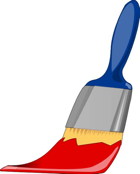 Clipart Paint Brush Paint Brush Blue And Clip At Clker Vector