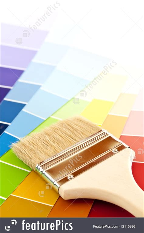 paint brush with color cards photo