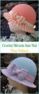 Crochet Girls Sun Hat Free Patterns Instructions In 2020