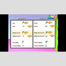 This, These, That, Those, Demonstrative Pronouns Lesson, English For Children Youtube