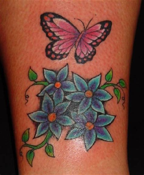 butterfly  flower tattoos   unique tattoo design