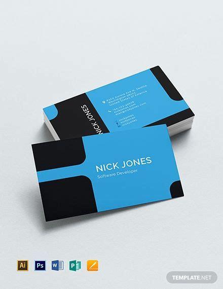 software developer business card business card template