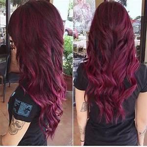 Haarverf aubergine rood