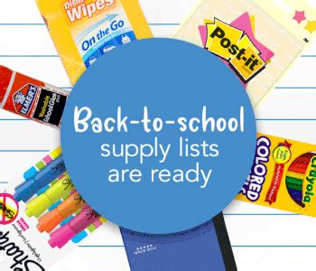 school supply lists school supply lists