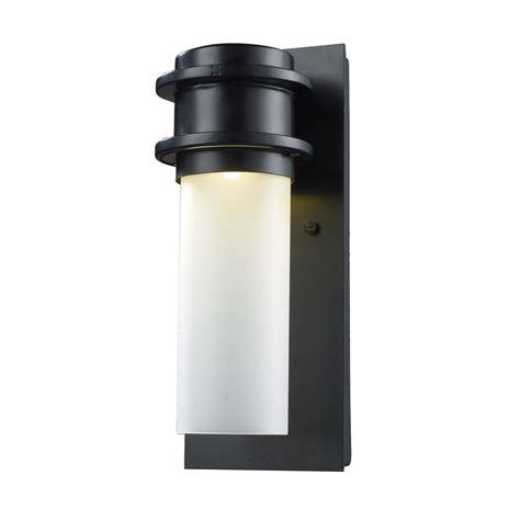 titan lighting 1 light outdoor matte black led wall sconce