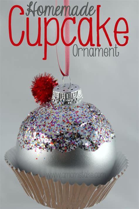 homemade christmas ornament cupcake  moms
