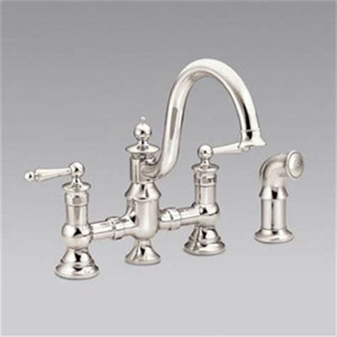 Ferguson Moen Kitchen Faucets by Shs713nl Waterhill Two Handle Kitchen Faucet Polished