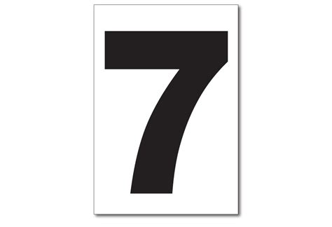 Vinyl Numbers, Number 7 Sticker