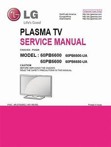 Lg 60pb6600 Ua Smart Plasma Tv Original Service Manual And