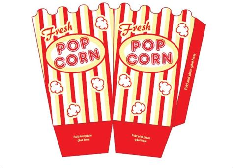 popcorn box templates  psd vector eps
