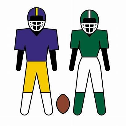 Clip Football Clipart Player American Team Sports