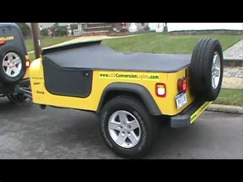 jeep cing trailer jeep wrangler trailer done youtube