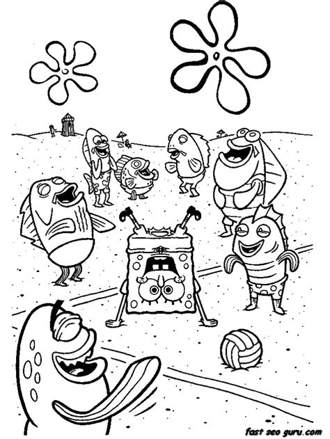 printable cartoon network spongebob coloring  sheets printable coloring pages  kids