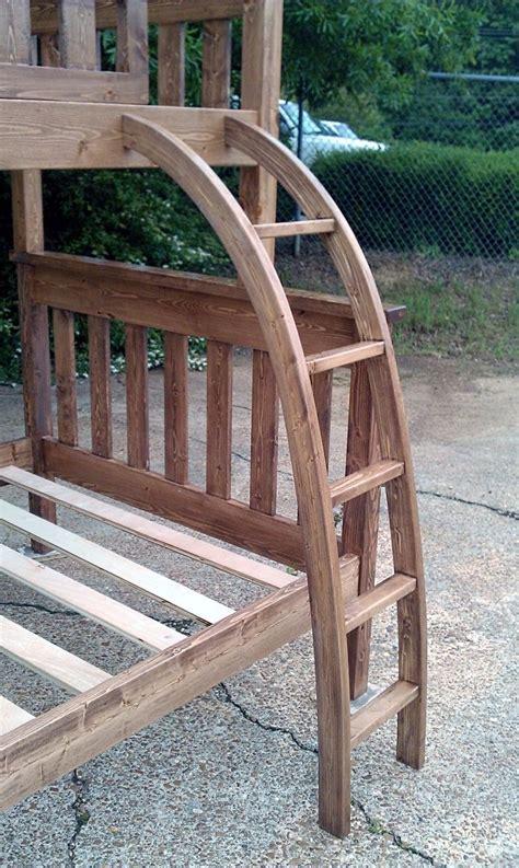 custom curved bunk bed ladder  ambassador woodcrafts
