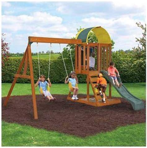 Kid Swing Set by Best Wooden Backyard Swing Sets For On