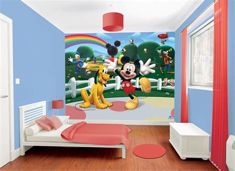 Mickey Mouse Clubhouse Bedroom Curtains by D 233 Coration Chambre Mickey Mouse