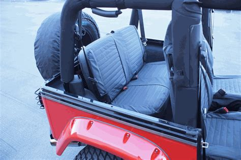jeep wrangler backseat all things jeep rage black denim rear seat covers for