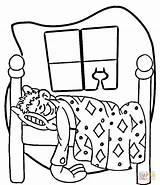 Coloring Night Sleepover Bed Furniture Printable Chandelier Paper Sleep Getcolorings Clipart Bedroom sketch template