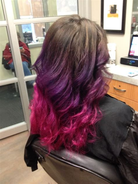 My New Pink And Purple Ombre Hair Hairology Pinterest