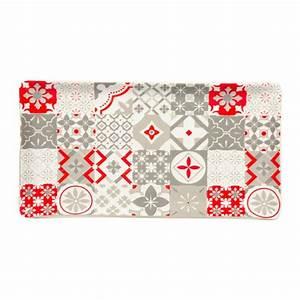 Carreaux De Ciment Rouge : plat rectangle gris rouge motifs carreaux de ciment ~ Melissatoandfro.com Idées de Décoration