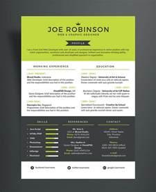 free professional resume cv design template in