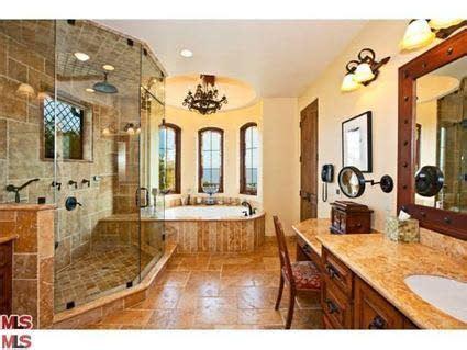 Brad Garrett Malibu Home-Master Bath | Spanish style ...