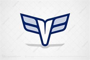 Winged Letter V Logo