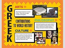 Make a Poster About Greek Contributions History Project