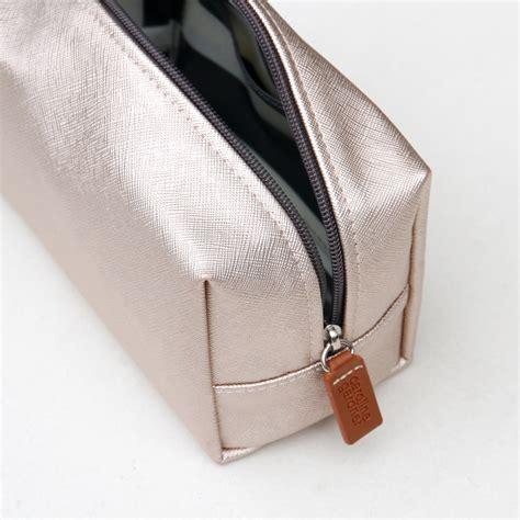 cube cosmetic bag gold metallic caroline gardner uk