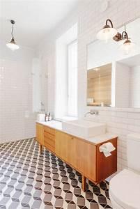 salle de bain retro carrelage meubles et deco en 55 photos With meuble salle de bain carrele