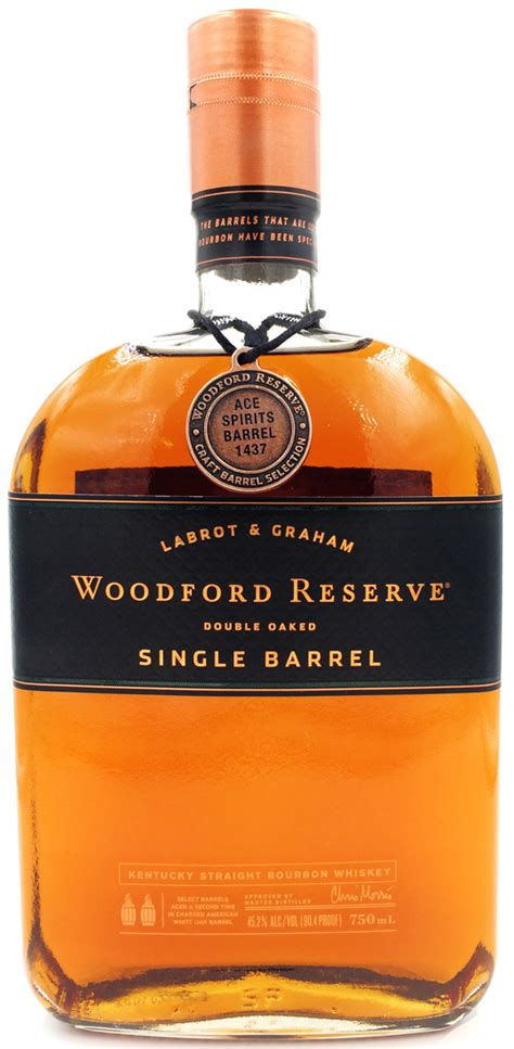 woodford reserve double oaked single barrel ace spirits