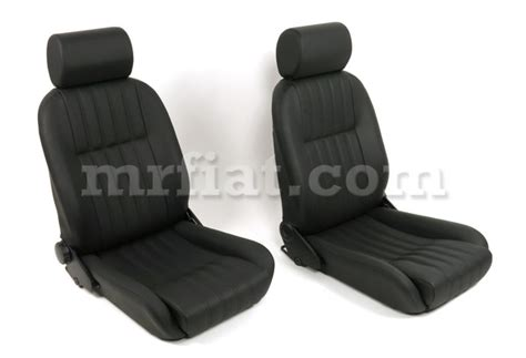 Fiat Spider Seats by Fiat 124 Spider Black Vinyl Seat Set 66 78 New Ebay