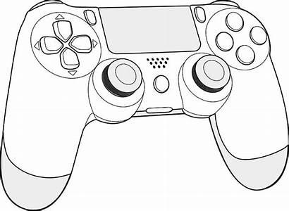Ps4 Controller Drawing Console Colorare Fortnite Disegni