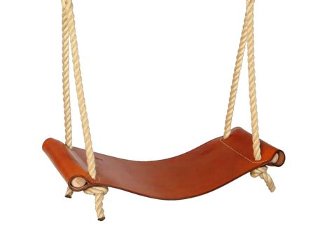 in swing leather rope swing sitting spiritually