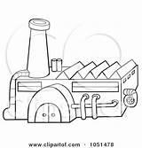 Factory Outline Clipart Clip Illustration Royalty Dero Vector Industrial Illustrations Clipartof 2021 sketch template
