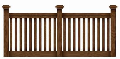 Fence Transparent Wooden Clipart Fencing Fences Wood