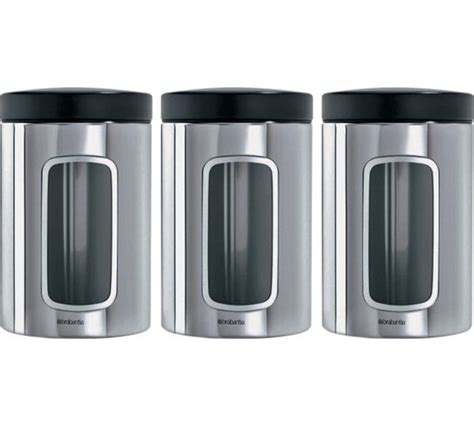 Buy Brabantia Brilliant Stainless Steel Storage Canisters