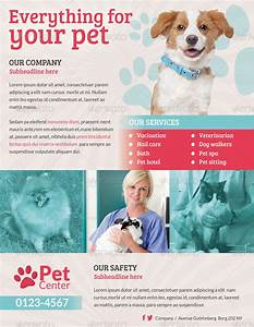Pet Services Flyer/ Print ad by ingridk GraphicRiver