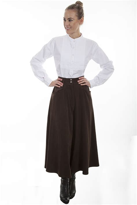 scully suede cloth split riding skirt brown