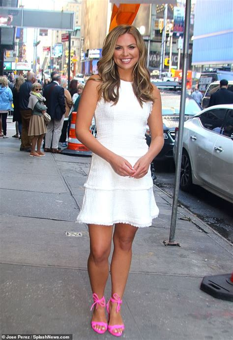 Bachelorette Hannah Brown Is A Vision In White As She Makes A Leggy Appearance At Gma In New