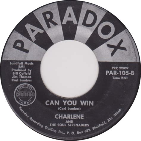 45cat  Charlene And The Soul Serenaders  Love Changes  Can You Win  Paradox [alabama] Usa