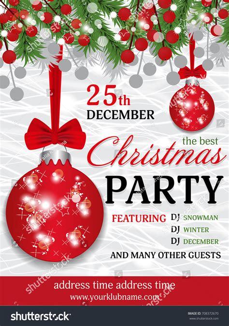 christmas wallpaper invitations invitation template background fir stock vector 708372670