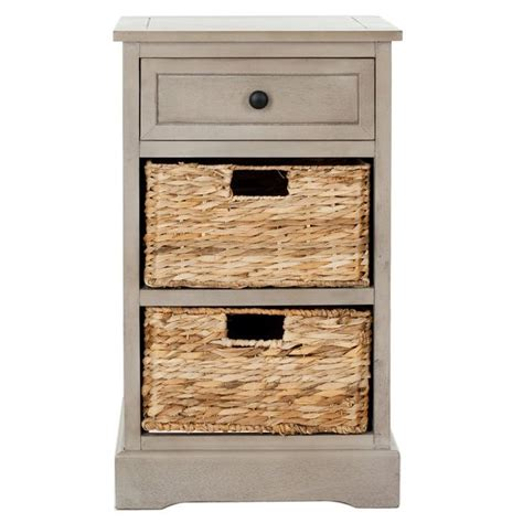 accent table with baskets accent table or night stand with wicker baskets boxes