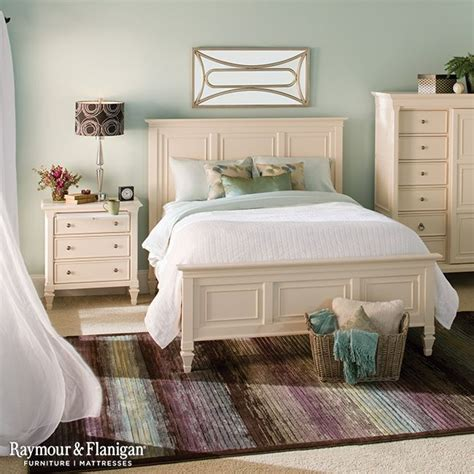 somerset queen panel bed summer style cream bedroom